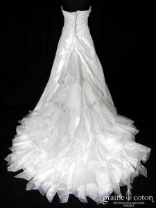 Divina Sposa - Puglia (taffetas drapé organza plissé coeur perles)