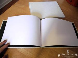 Livre d'Or couverture arabesque et strass - Ivoire ou blanc
