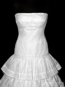 Rosa Clara - Elda (gaze de soie tulle plissé dentelle coton empire taille basse)