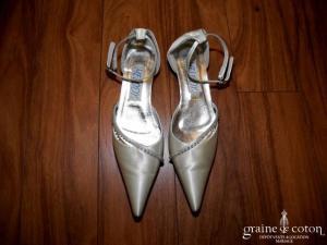 Melody - Escarpins (chaussures) en satin ivoire