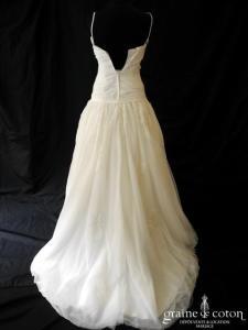 Mariées de Paris - Tulle (taffetas empire dentelle drapé V coeur bretelles taille basse)