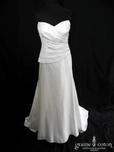 Lambert Créations - Réglisse (satin duchesse drapé coeur)