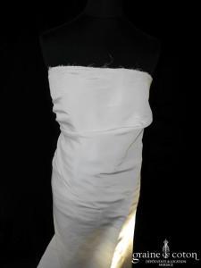 Lanvin collection Blanche - Robe bustier en taffetas de soie ivoire drapé
