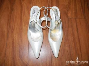 Free Lance - Escarpins (chaussures) en cuir ivoire nacré