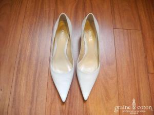 Orsel - Escarpins (chaussures) en cuir blanc