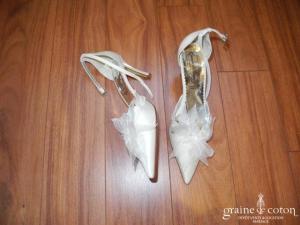 Beauté d'anges - Escarpins (chaussures) en tissu ivoire