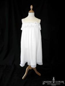 Pronuptia - Robe en mousseline avec bretelles