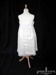 Pronuptia - Robe en coton et mousseline avec bretelles tressées