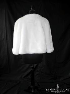 Pronuptia - Manteau en fausse fourrure ivoire