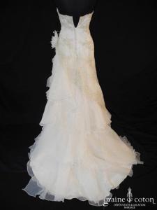 Pronuptia - Lune de Miel (organza champagne  drapé tulle perles)