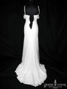 Jenny Packham - Koh Samui (tulle de soie drapé dentelle empire fluide taille basse coeur bretelles Swarovski)