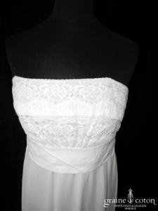 La Perla - Robe taille empire en mousseline fluide et dentelle (bretelles)