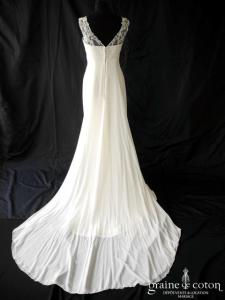 Pronovias - Temple (empire dentelle mousseline fluide bretelles)