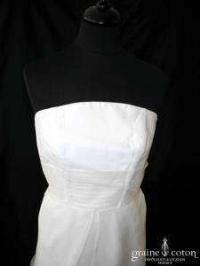 Catherine Varnier - Robe une pièce en soie sauvage et organza de soie