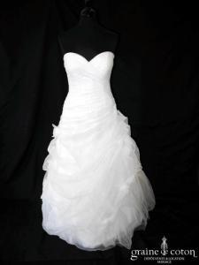 Cosmobella - Robe en organza drapé blanche (coeur)