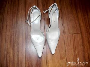 Roberto G - Escarpins (chaussures) en cuir ivoire