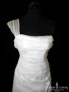 Catherine Varnier - Plumette (organza soie sauvage bretelle drapé)