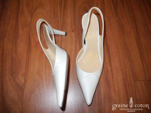 Parallèle - Escarpins (chaussures) en organza ivoire clair