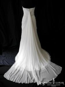 Pronovias - Abeto (mousseline empire drapé fluide coeur manches)