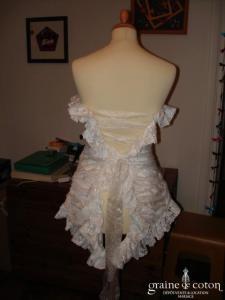 Création Roselyne Desti - Bustier blanc en satin