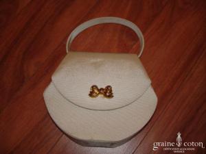 Nina Ricci - Petit sac recouvert de tissu, couleur crème foncé