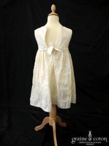 Signature - Robe ivoire clair petite fille d'honneur