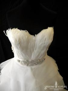 Pronovias - Bengasi (plumes mouchoirs tulle organza)