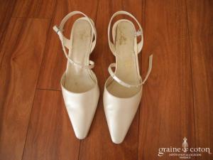Carla - Escarpins (chaussures) ivoire nacré en cuir