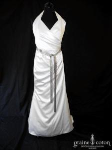 Cymbeline - Oui (satin drapé bretelle tour de cou fluide)