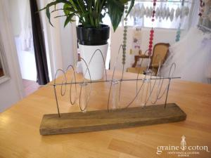 Deco2table - Support avec 3 soliflores spirales