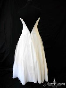 Delphine Manivet - Alban (taille basse tulle de soie fluide drapé blanche)