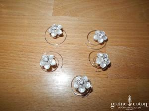 La Sposa - Lot de 5 curly fleurs ivoire