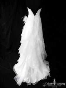 Pronuptia - Lune de Miel (organza sirène fourreau drapé tulle perles)