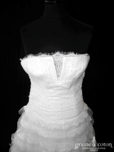 San Patrick (Pronovias) - Everest (empire noeud volants dentelle tulle plumetis)