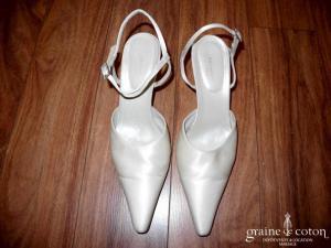 Pronuptia - Escarpins (chaussures) Setim en tissu nacré ivoire