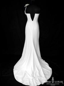 Harriet de Prag pour Cymbeline - Fantine/Grenadine (crêpe fluide mousseline drapé bretelle sirène fourreau)