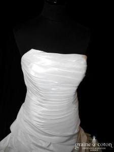 Eglantine Créations - Cuba (taffetas drapé blanche)