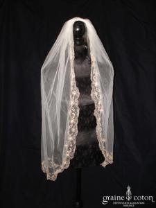 La Sposa (Pronovias) - Voile mi long Frisol en tulle et dentelle brodée ivoire