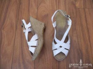 Atelier Mercadal - Espadrilles (chaussures) en cuir vernis blanc