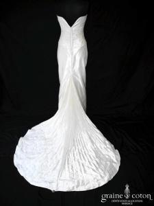 Catherine Puget - Star (drapé soie coeur fourreau droite dos boutonné)