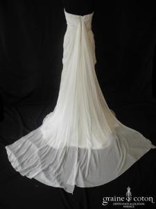 Pronovias - Abeto (mousseline empire drapé fluide coeur manches laçage)