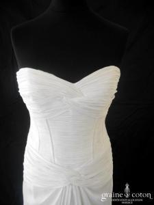Pronovias - Paola (mousseline drapé coeur fluide sirène)