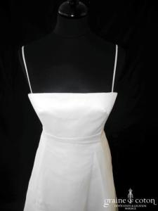 Cymbeline - Robe empire en organza ivoire (bretelles)