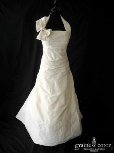 Les mariées de Provence - Cadière (taffetas drapé bretelles tour de cou noeud laçage)