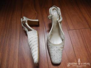 Doriani - Escarpins (chaussures) en satin brodé et strassé