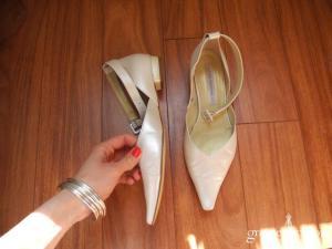 Linéa Raffaëlli - Escarpins (chaussures) en cuir ivoire nacré
