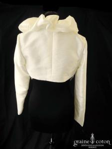 Rembo Styling - Boléro en taffetas ivoire, manches longues