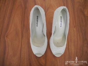 PacaMena - Chaussures (escarpins) en dentelle ivoire
