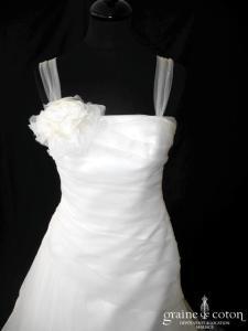 Rembo Styling - Liselotte (drapé organza soie taille basse bretelles tulle)