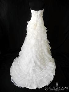 Mariées de Paris pour Cymbeline - Honorine (empire dentelle organza taille basse laçage)